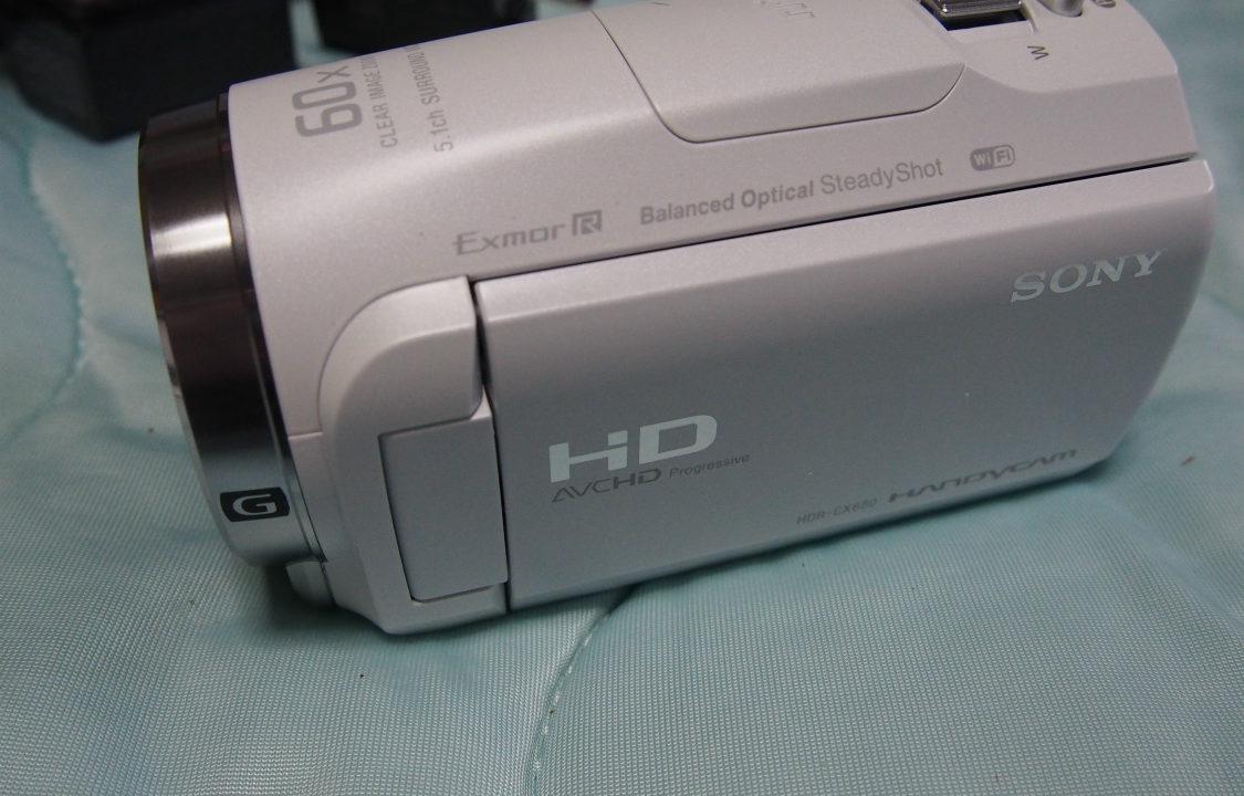 HDR-CX680 モニター閉じた状態