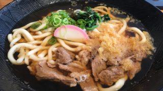 2018-07-08麺菓装の牛すじうどん