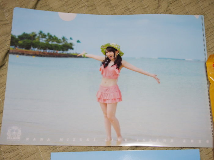 NANA MIZUKI LIVE ISLAND 2018大阪城ホールで買ったクリアファイル