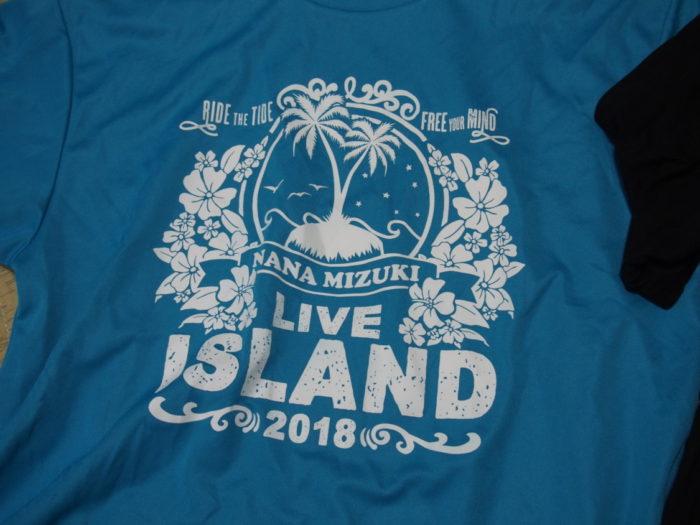 NANA MIZUKI LIVE ISLAND 2018大阪城青Tシャツ表
