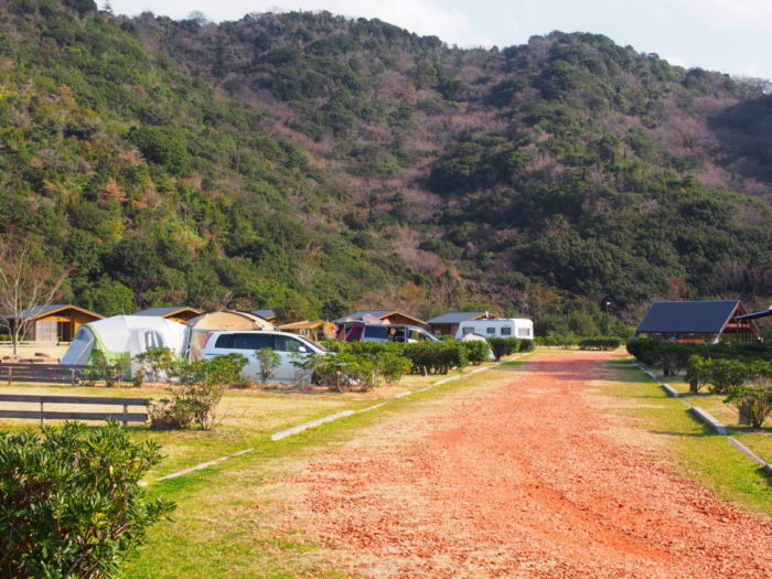 じゃのひれキャンプ場の山側サイト