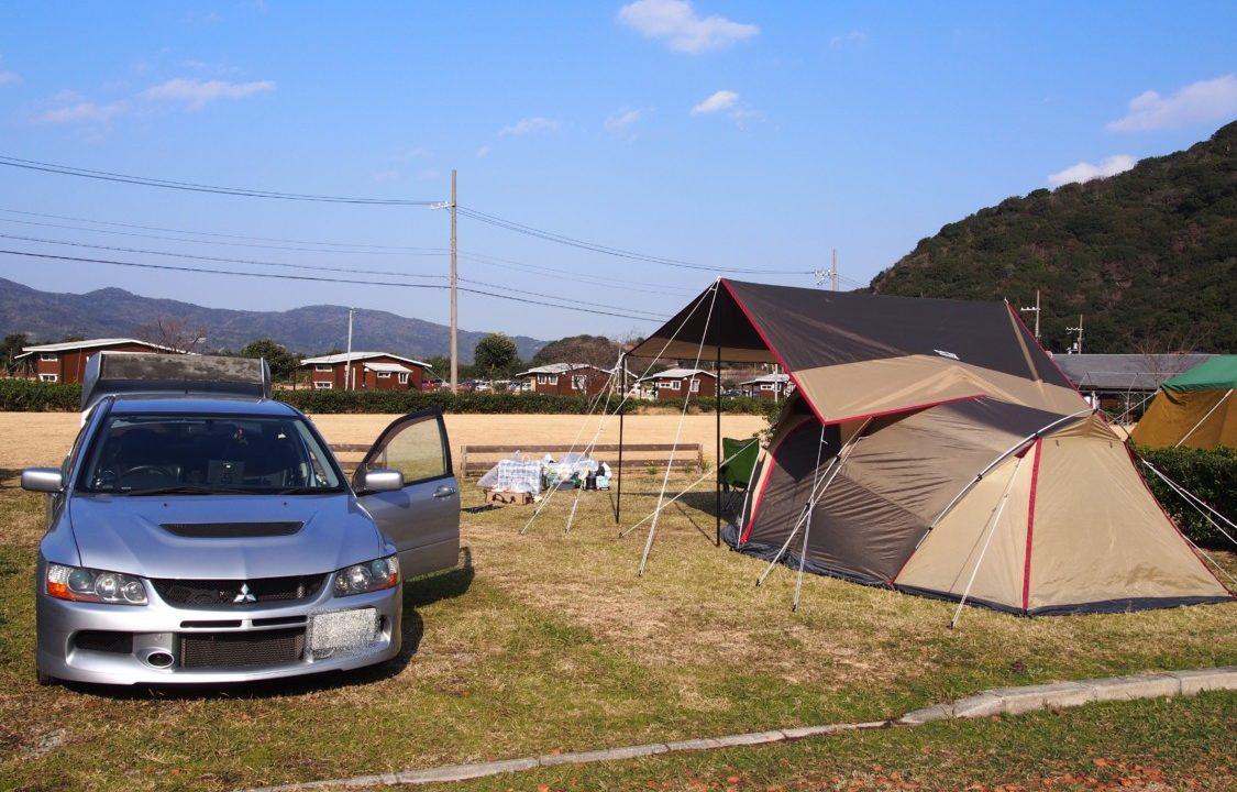 じゃのひれキャンプ場サイト設営イメージ
