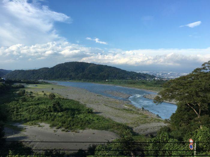 富士川楽座から見える富士川