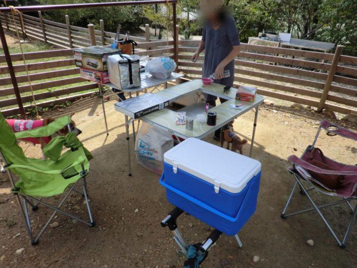 20120921犬山キャンプ場 ニューアイテム一杯