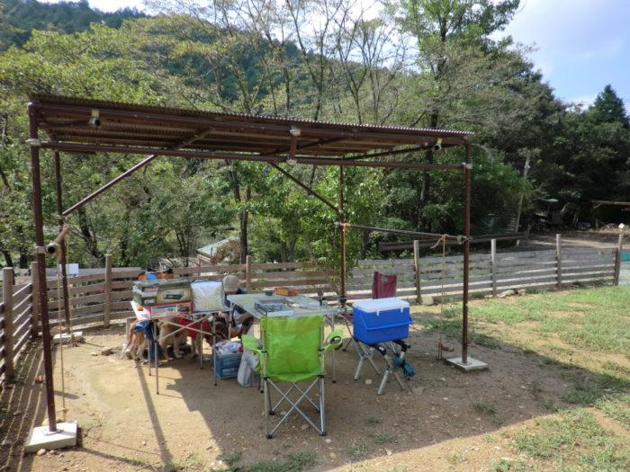 20120921犬山キャンプ場 サイトセッティング