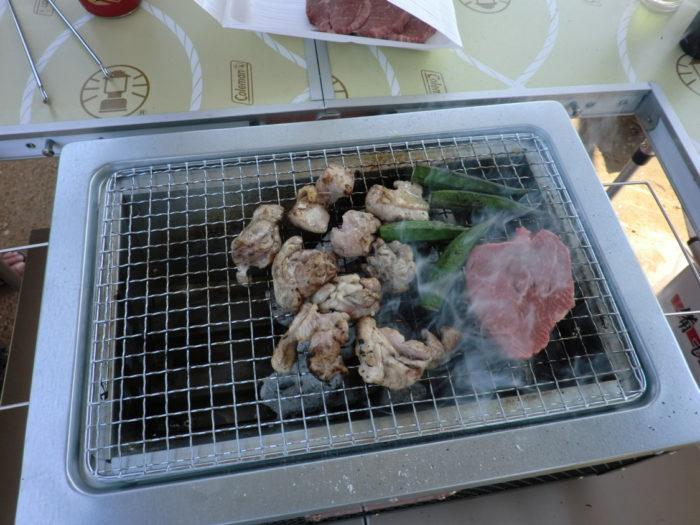 20120921犬山キャンプ場 BBQ鶏肉