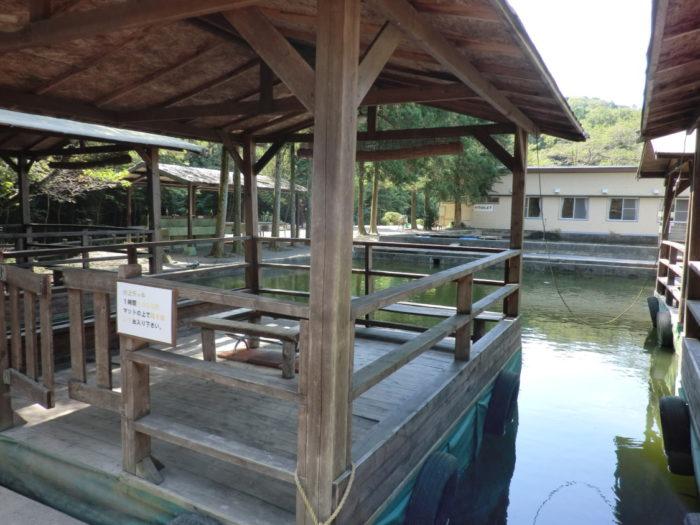 20120921犬山キャンプ場 水上BBQデッキ
