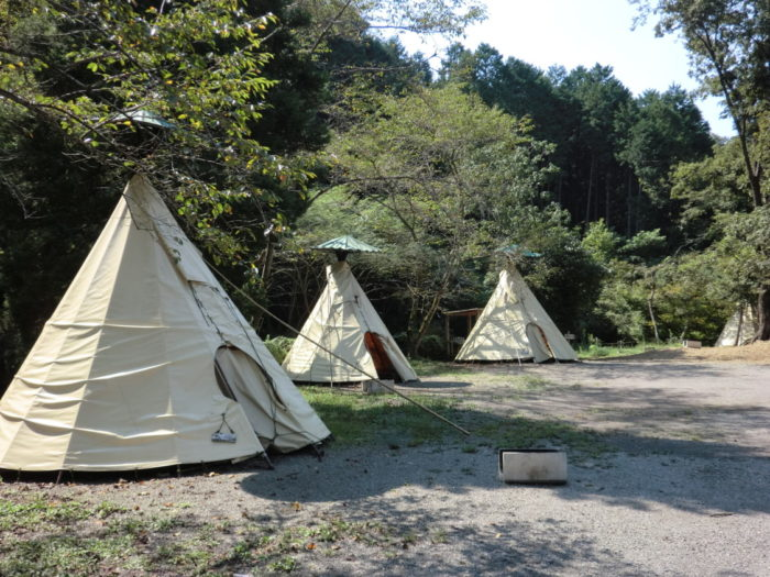 20120921犬山キャンプ場 ティピーサイト