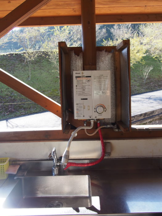 20131130サンビレッジ曽爾 湯沸かし器
