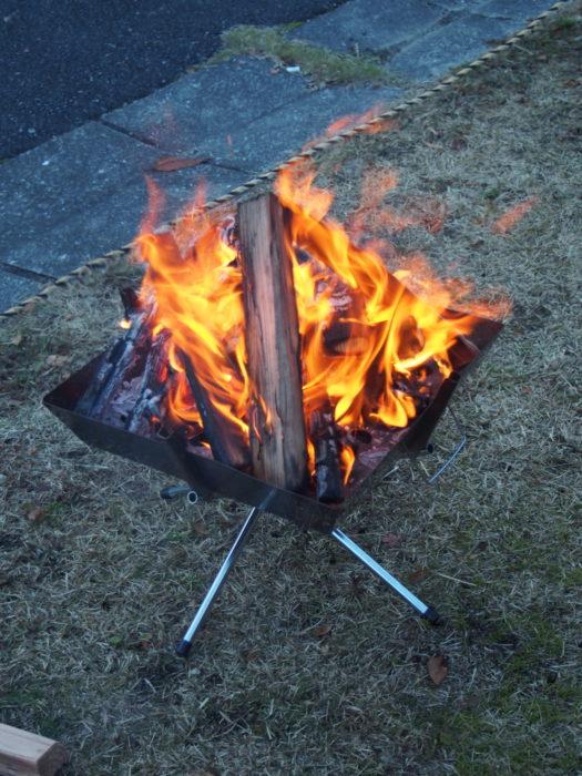 20131130サンビレッジ曽爾 焚き火