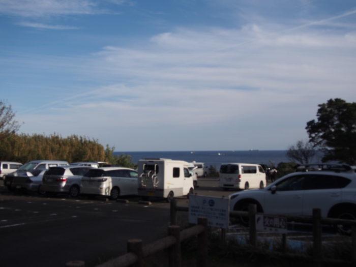 201812潮岬キャンプ 駐車場