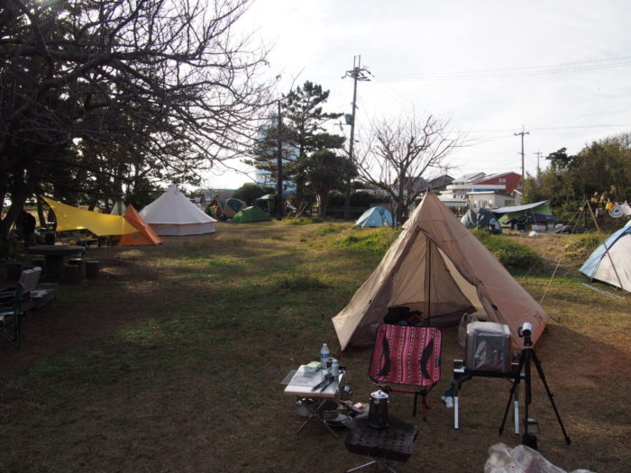 201812潮岬キャンプ キャンプ場