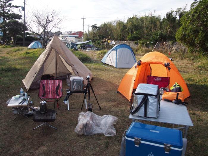 201812潮岬キャンプ サイト