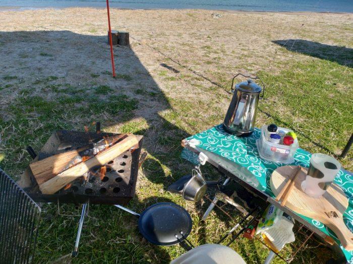 2019-03-09 気比の浜キャンプ場 ソロスペースセッティング
