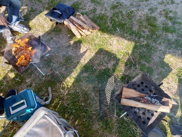 2019-03-09 気比の浜キャンプ場 2つのファイアグリル