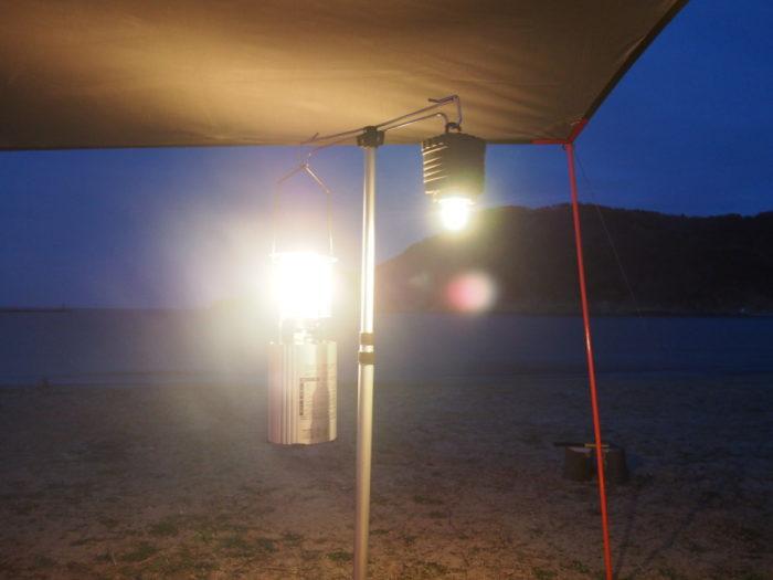 2019-03-09 気比の浜キャンプ場 ランタン