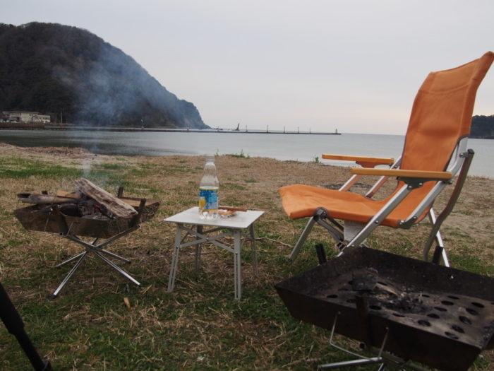 2019-03-09 気比の浜キャンプ場 どんより天気の朝ごはん