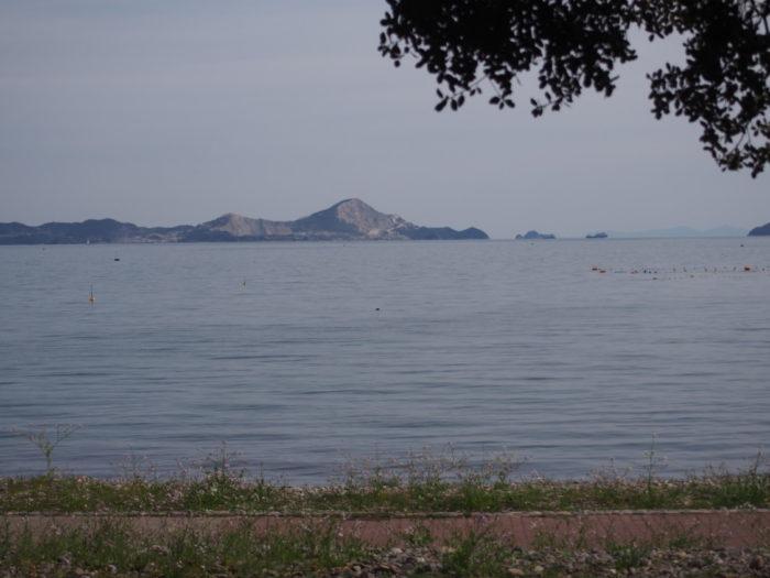 丸山県民サンビーチサイトから海の眺め