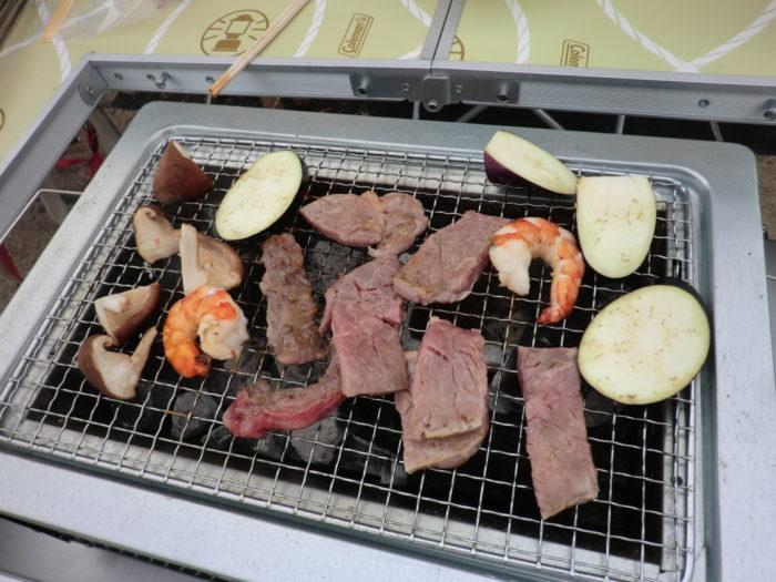 南淡路シーサイドキャンプ場 BBQ
