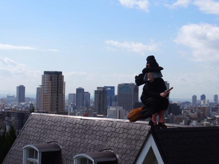 うろこの家 屋根の上の魔女