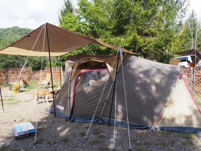 N.E.W奥長良キャンプ場 テントとタープ