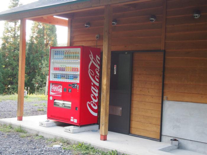 N.E.W奥長良キャンプ場 ドッグラン近くの自販機