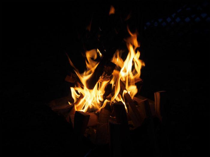 N.E.W奥長良キャンプ場 焚き火