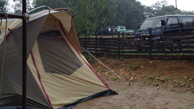 犬山キャンプ場 大雨の撤収