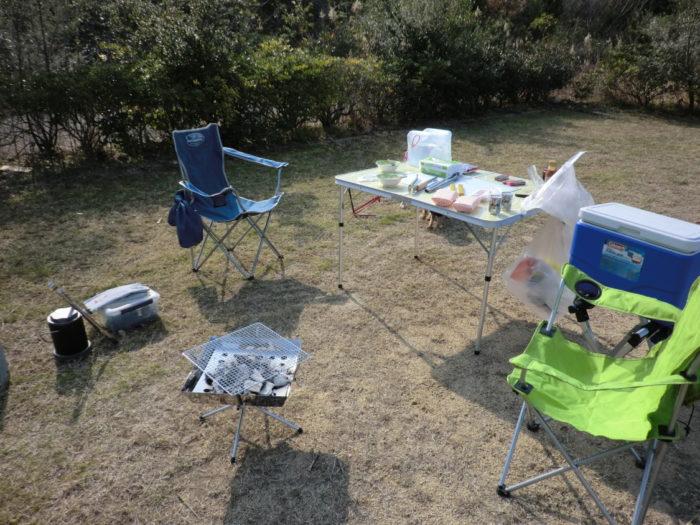 20130112じゃのひれ テーブルの準備
