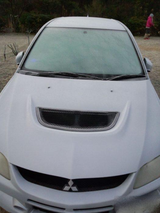 20130113じゃのひれ 真っ白な車