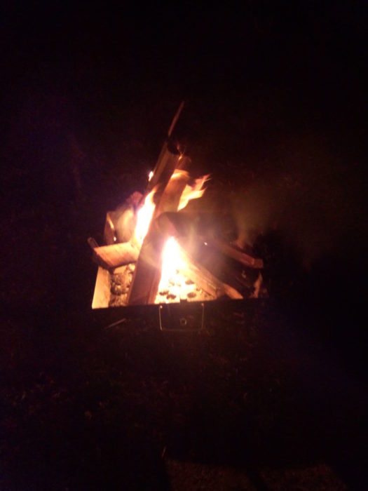 20130113じゃのひれ 焚き火