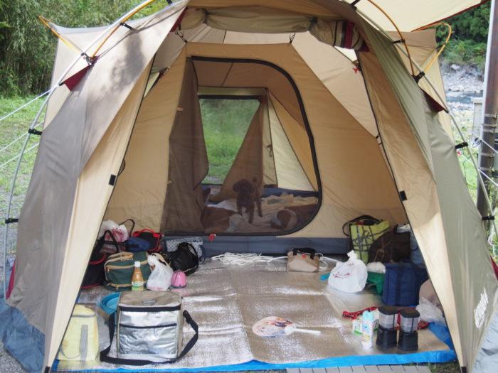 アイリスパーク テント設営完了