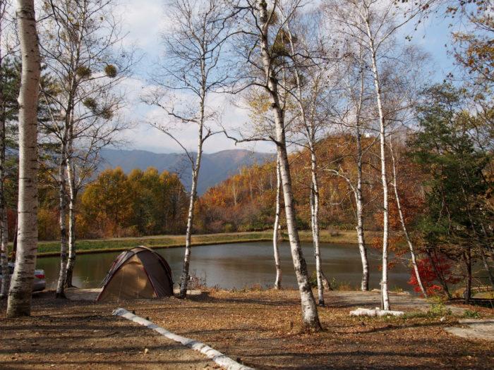 高ソメキャンプ場 景色最高の湖畔