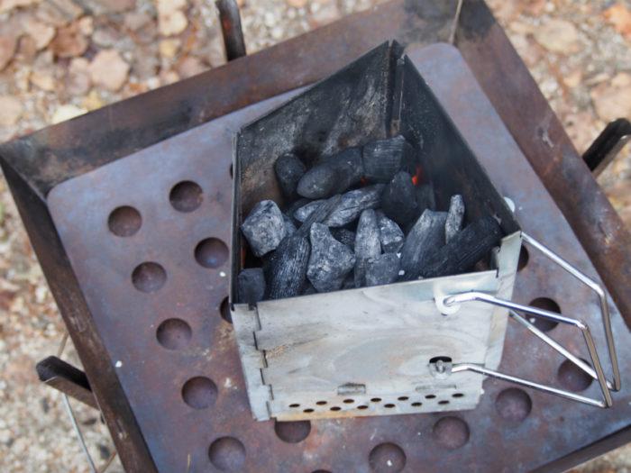 高ソメキャンプ場 火おこし器