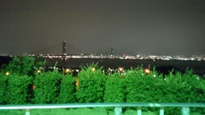 2014-10-22 淡路サービスエリアからの明石海峡大橋