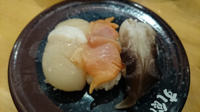 2014-09-15 すし食いねぇ!県庁前 貝の盛り合わせ