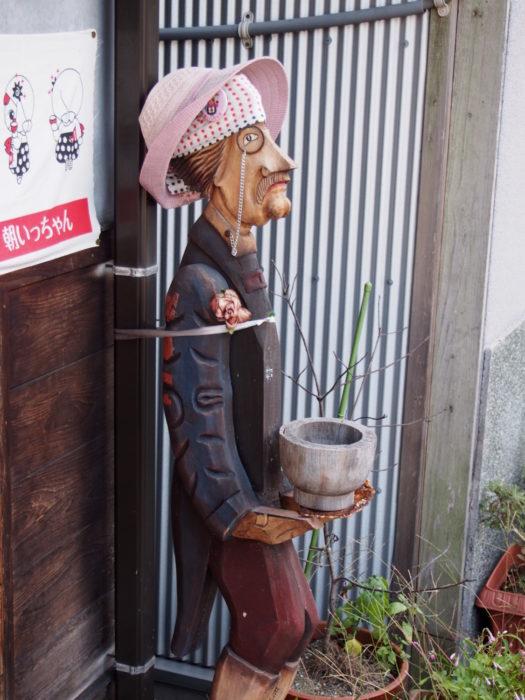 2014-09-13 輪島朝市 謎の木製おじさん看板