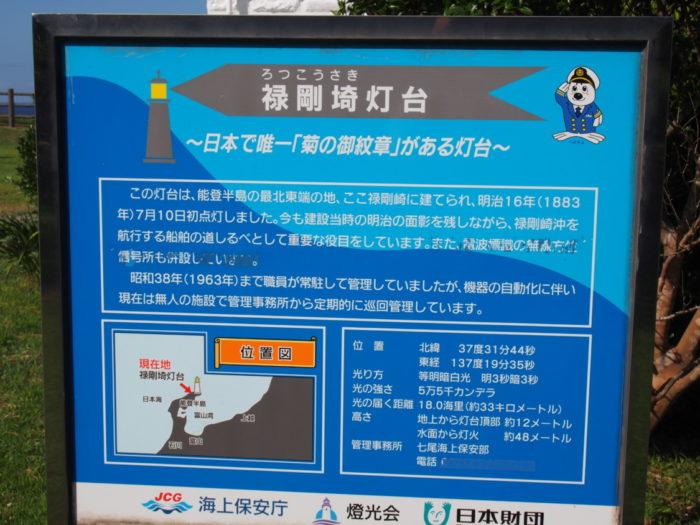 2014-09-14 禄剛埼灯台 歴史を知る看板