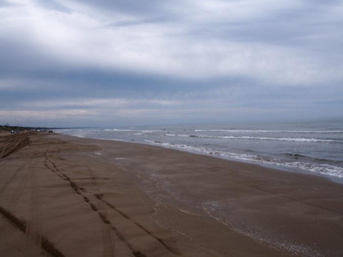 2014-09-15 千里浜なぎさドライブウェイ 広い砂浜