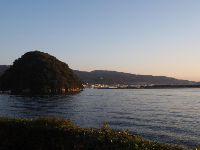 2014-10-24 南淡路シーサイドキャンプ場 朝日が出る釣り場