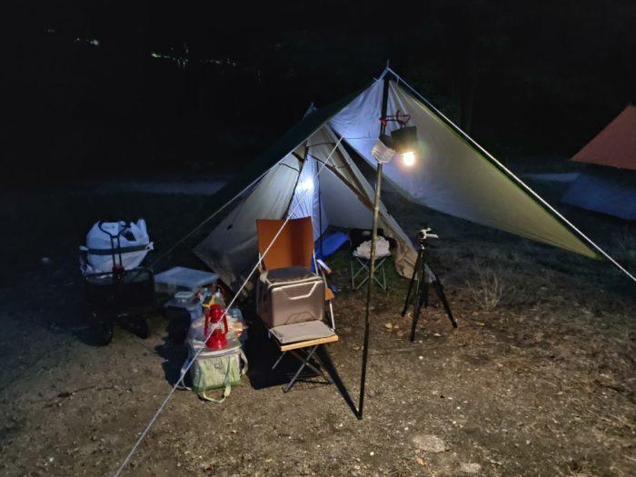 2019-11-01 丸山県民サンビーチ 設営完了