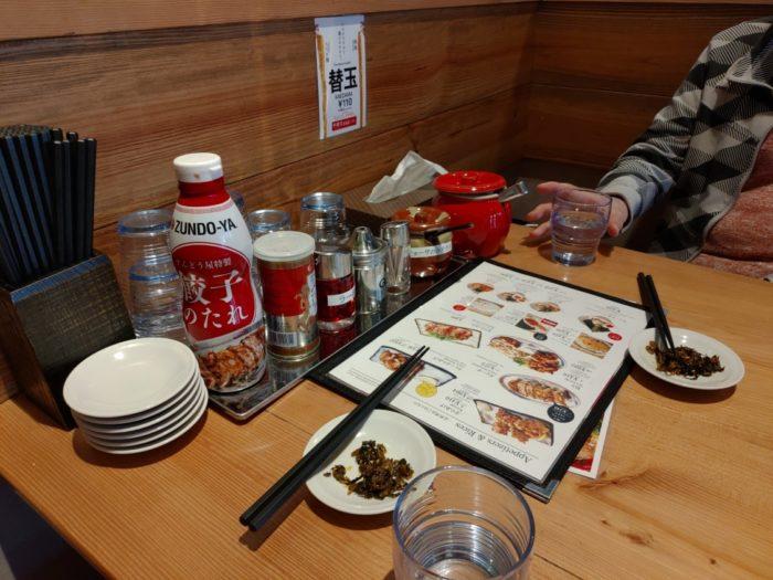 ずんどう屋岸和田店 テーブル