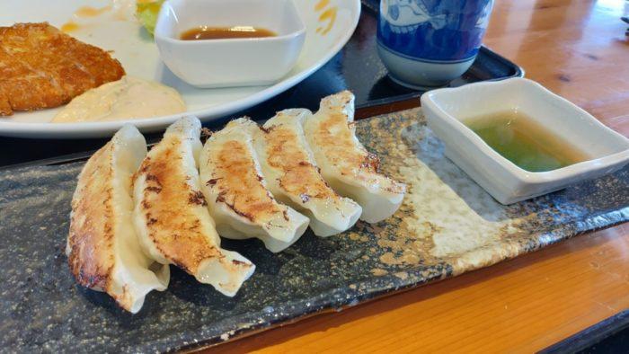水門まつり 梅酢で食べる鯛餃子