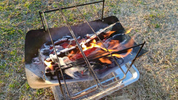 2020-01-19野口オートキャンプ場 朝から焚き火