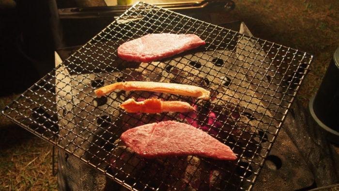 2019-11-11 リゾート大島 BBQでステーキ