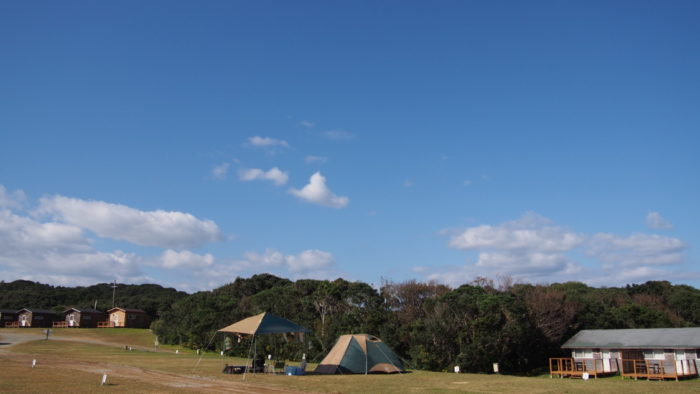2019-11-12 リゾート大島 青空の映えるサイト