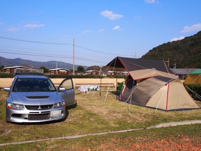 2013-12-31じゃのひれオートキャンプ場 サイトセッティング