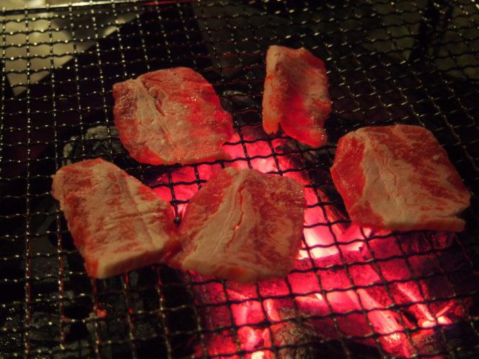 2013-12-31じゃのひれオートキャンプ場 BBQ牛肉