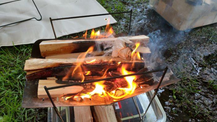 2020-09-26神鍋高原キャンプ場 焚き火
