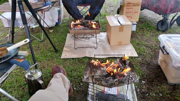 2020-09-26神鍋高原キャンプ場 焚き火二台